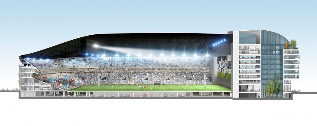 Stade arena nanterre la d fense christian de portzamparc for Interieur u arena