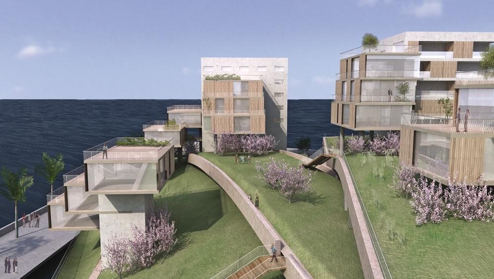 Monaco urbanisation en mer non construit christian de